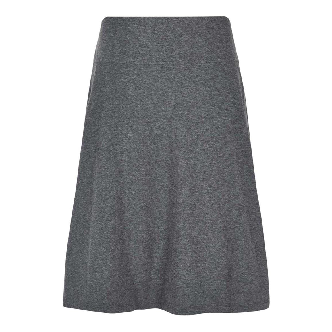 Weird Fish Malmo Printed Jersey Skirt Charcoal Marl