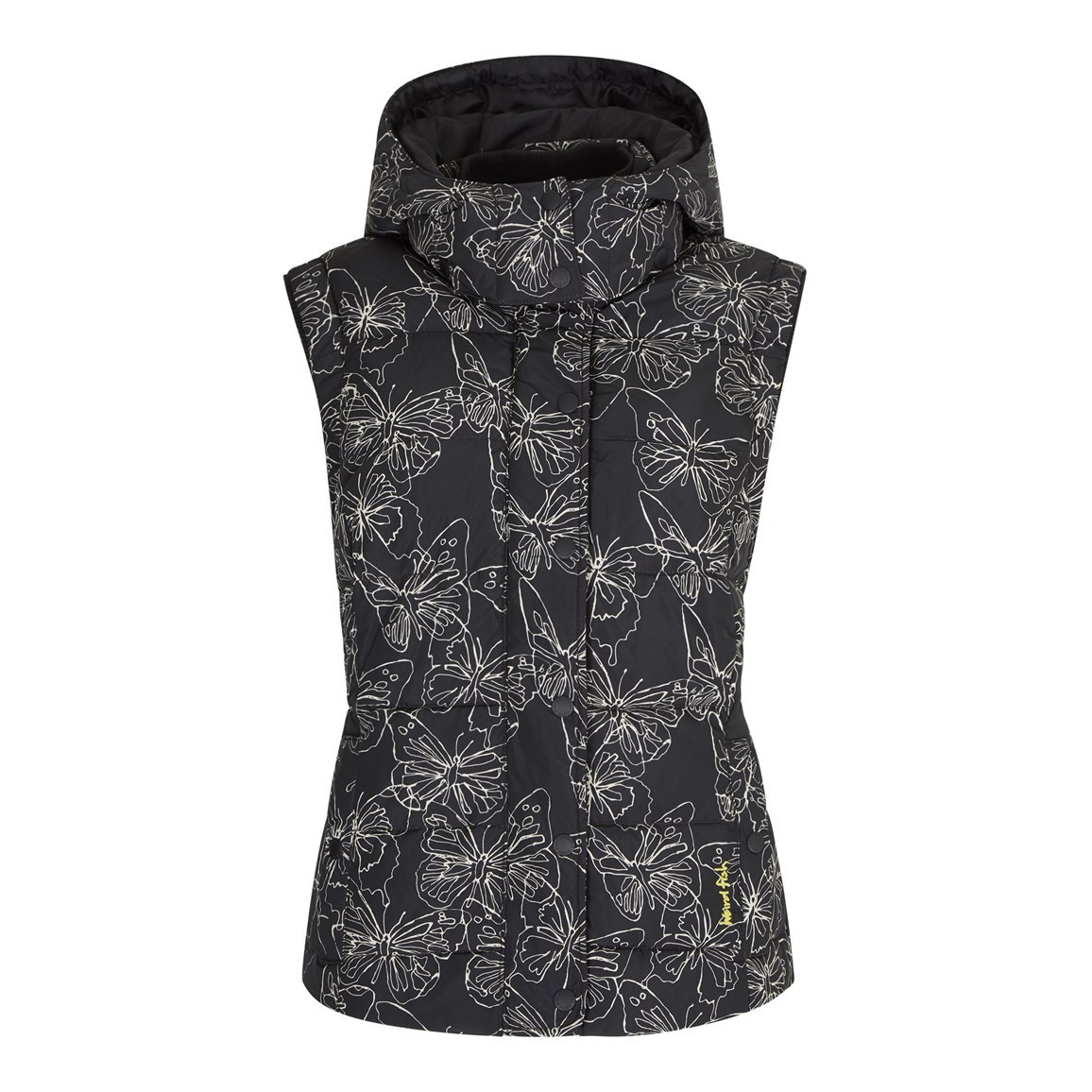 Weird Fish Mission Printed Down Filled Gilet Onyx