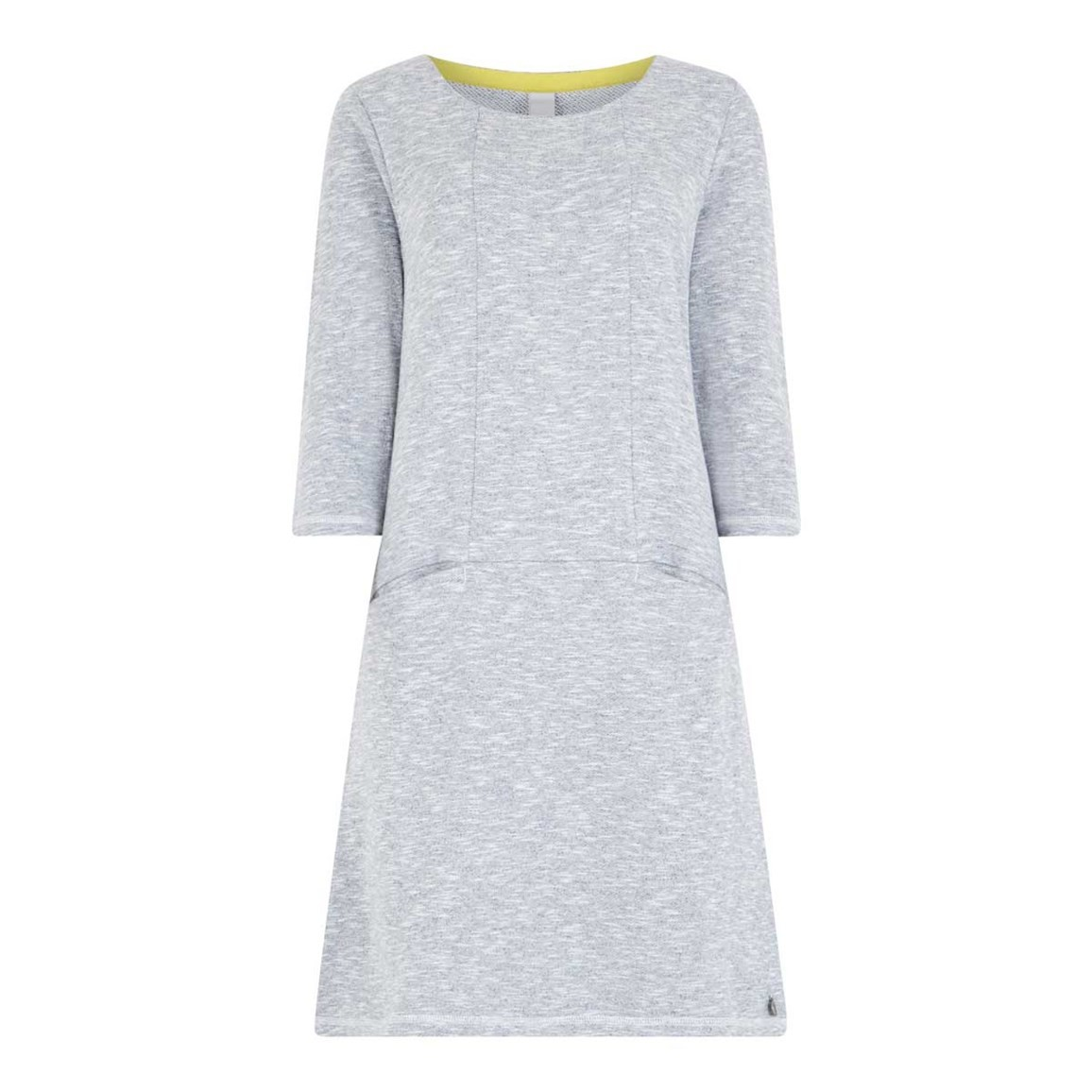 Weird Fish Artisan Loopback Shift Dress Grey Marl Size 16