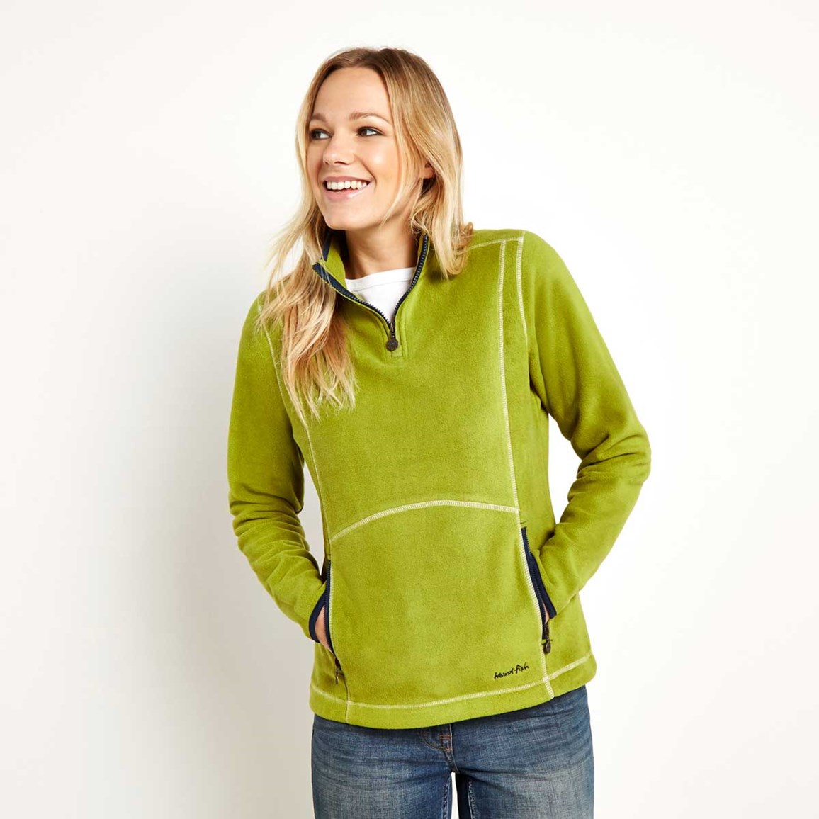 Christie 1/4 Zip Microfleece Top Woodbine
