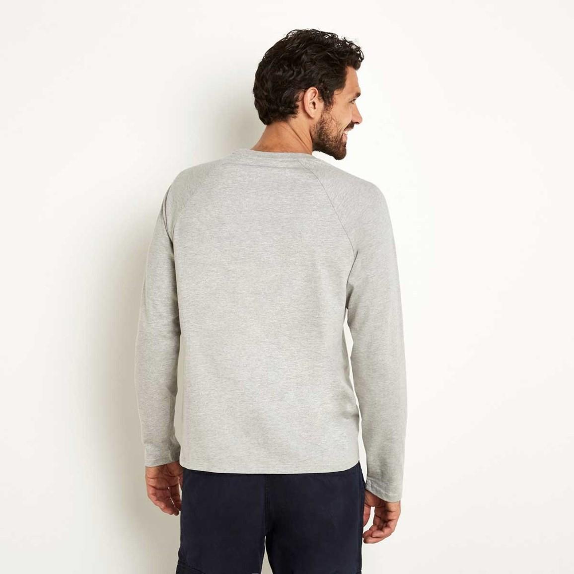 lang long sleeve graphic print t shirt grey marl. Black Bedroom Furniture Sets. Home Design Ideas