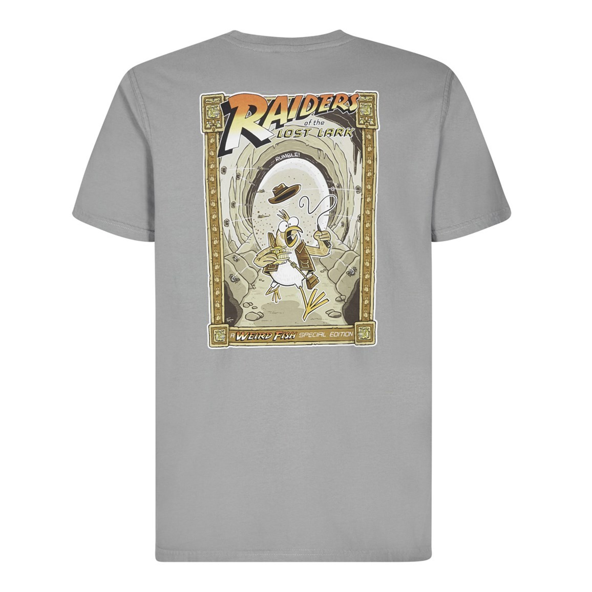 Image of Weird Fish Raiders Artist T-Shirt Frost Grey Size L