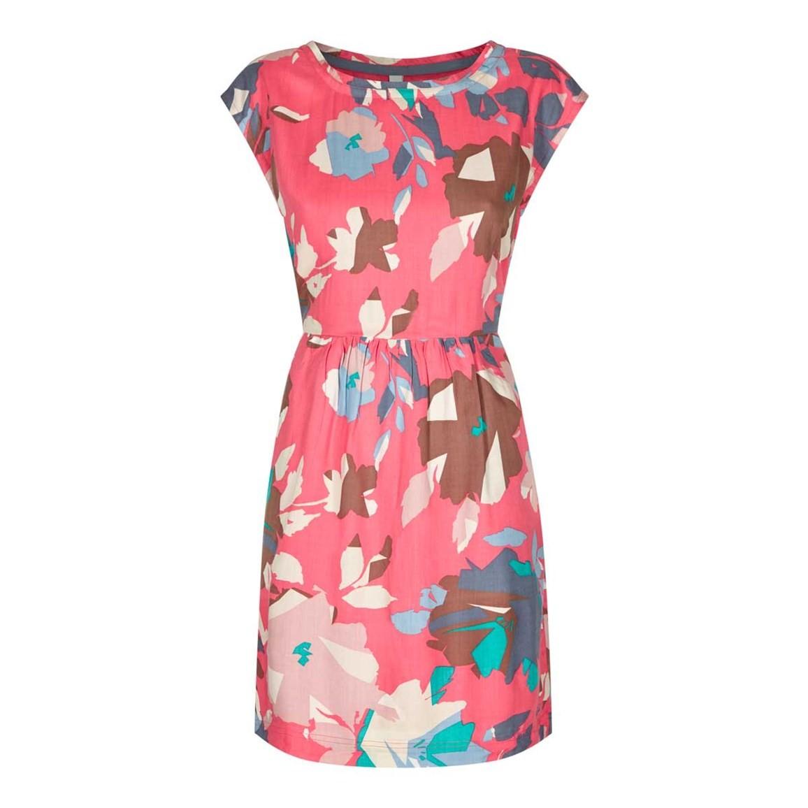 Weird Fish Minnihaha Printed Lightweight Dress Hot Pink