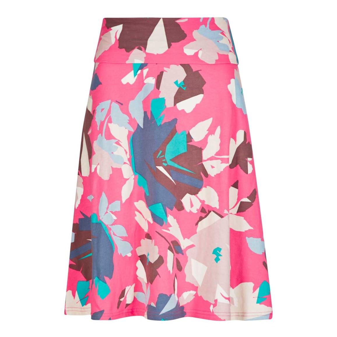 Weird Fish Malmo Printed Jersey Skirt Hot Pink