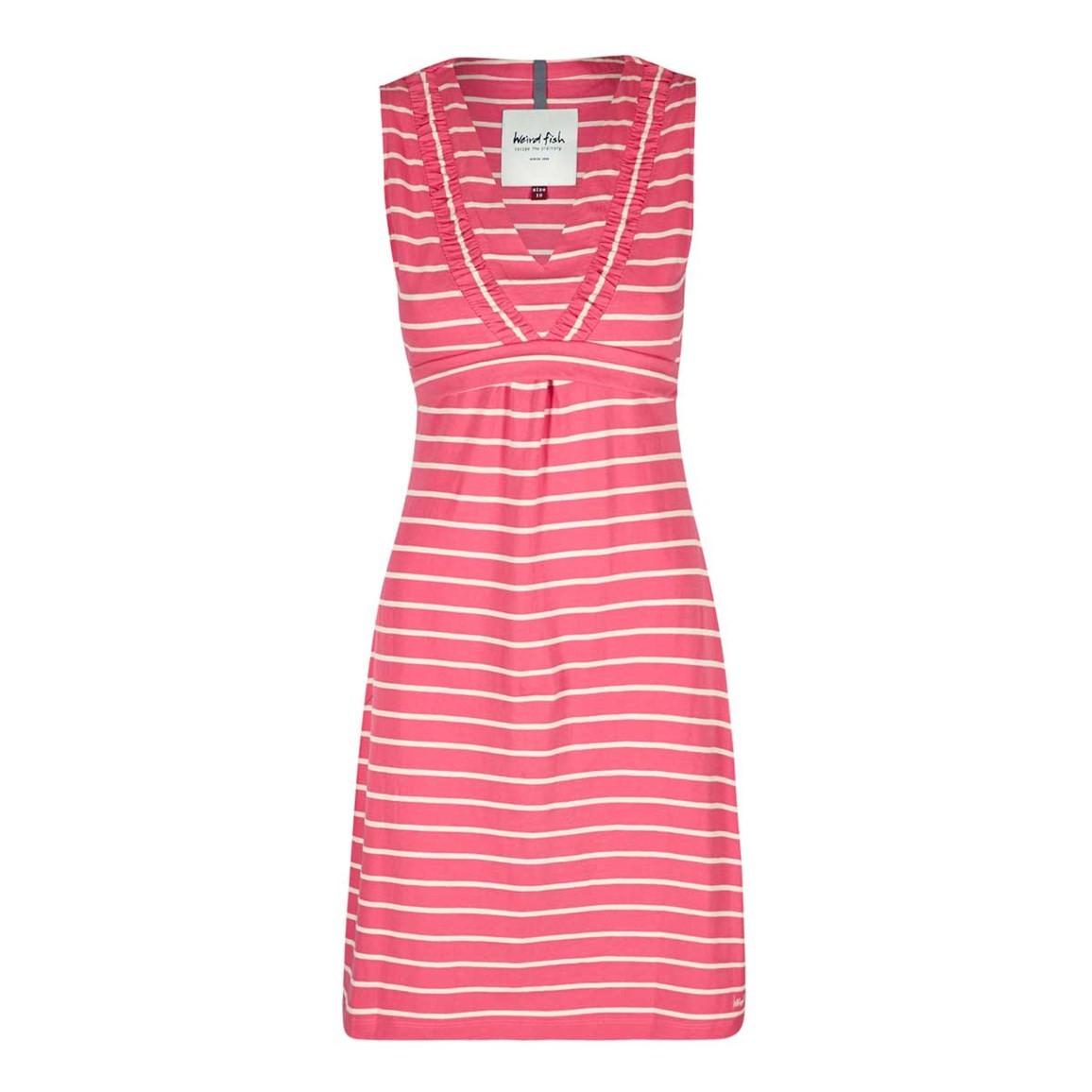 Weird Fish Gandhak Stripe Jersey Dress Hot Pink