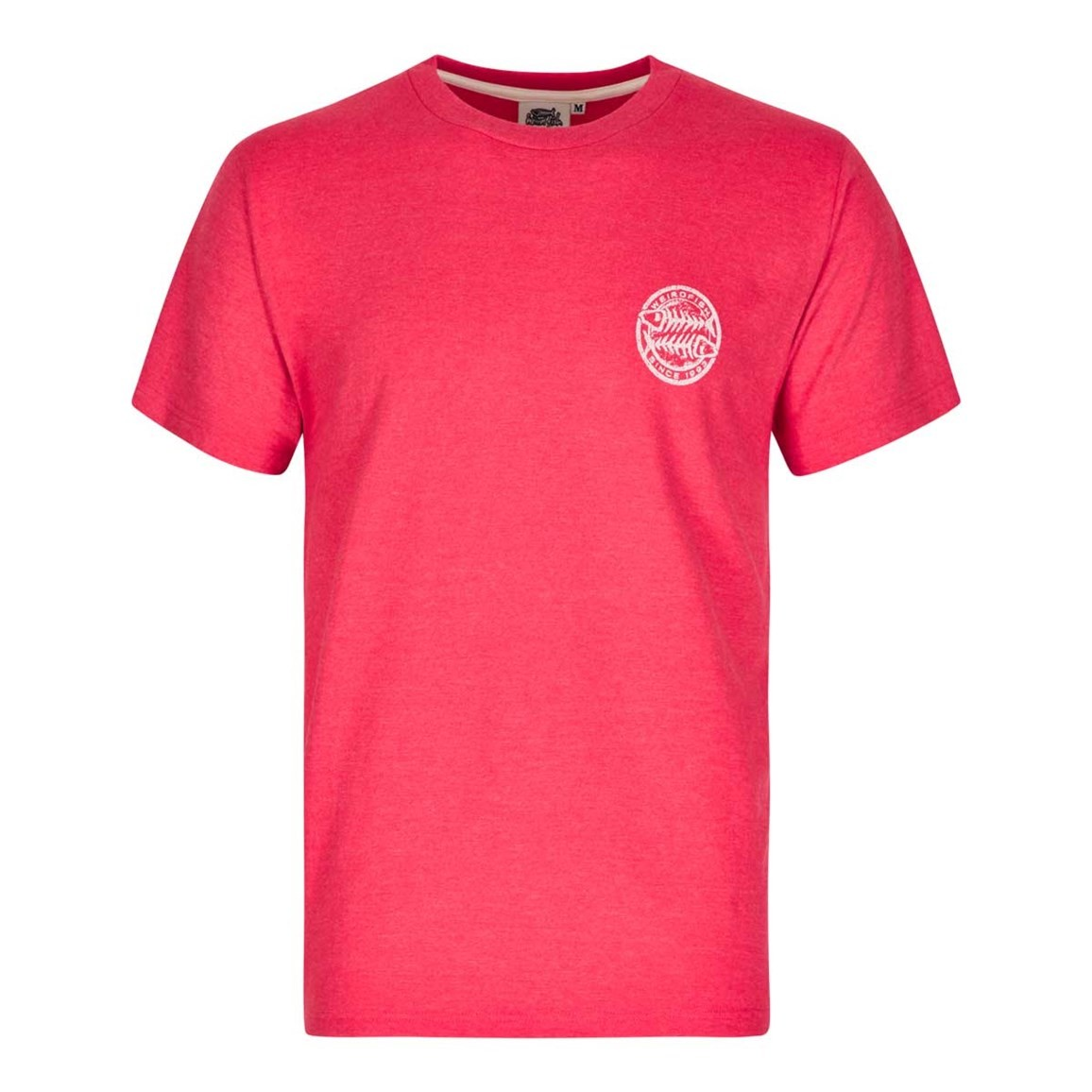 Heritage surf graphic print t shirt barberry red marl for Graphic print t shirts