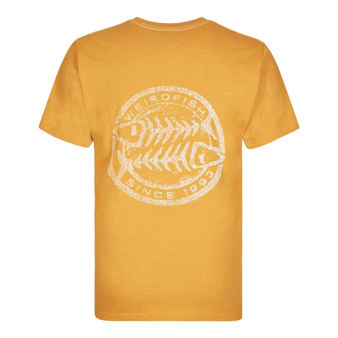 Weird Fish Heritage Surf Graphic Print T-Shirt Old Gold Marl