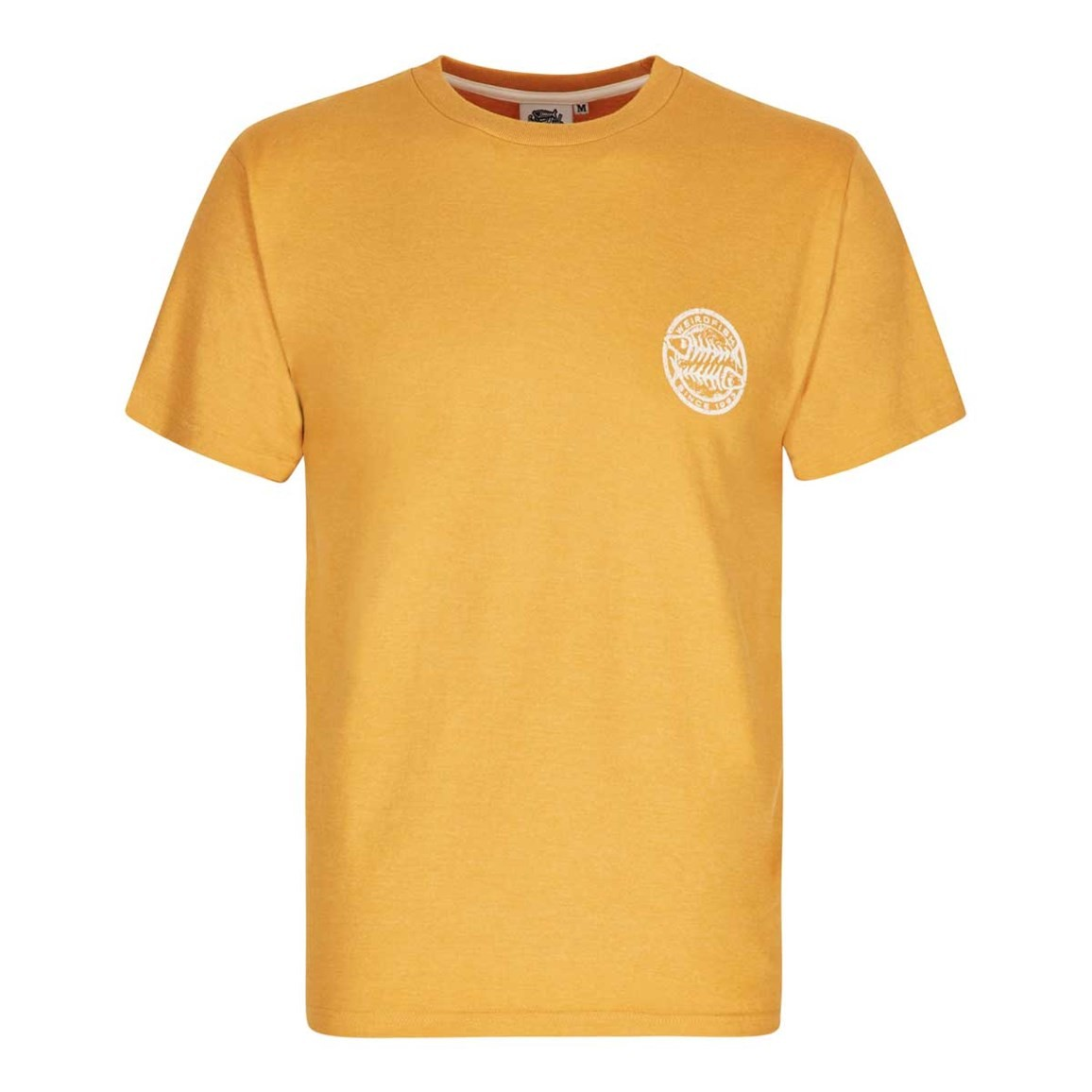 Heritage Surf Graphic Print T Shirt Old Gold Marl