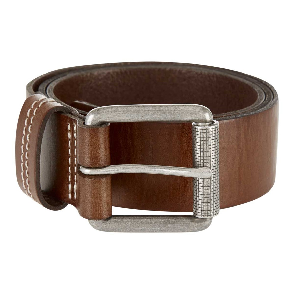 Weird Fish Lava Leather Belt Brown