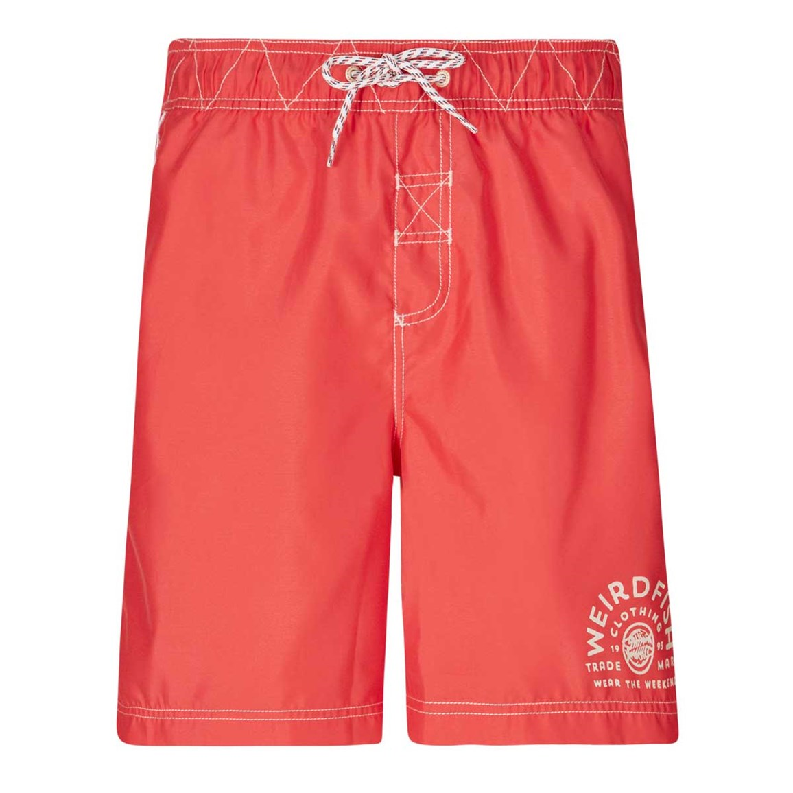 Weird Fish Soundwave Piped Board Short Radical Red