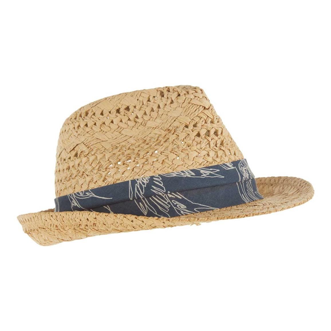 Weird Fish Diwali Straw Trilby Hat Natural