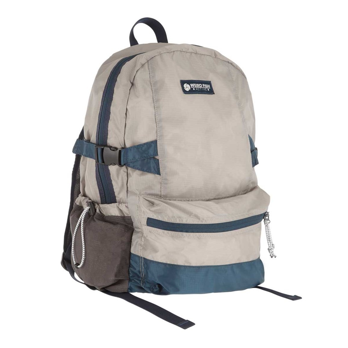 Weird Fish Wingspan Ripstop Packaway Backpack Gunmetal