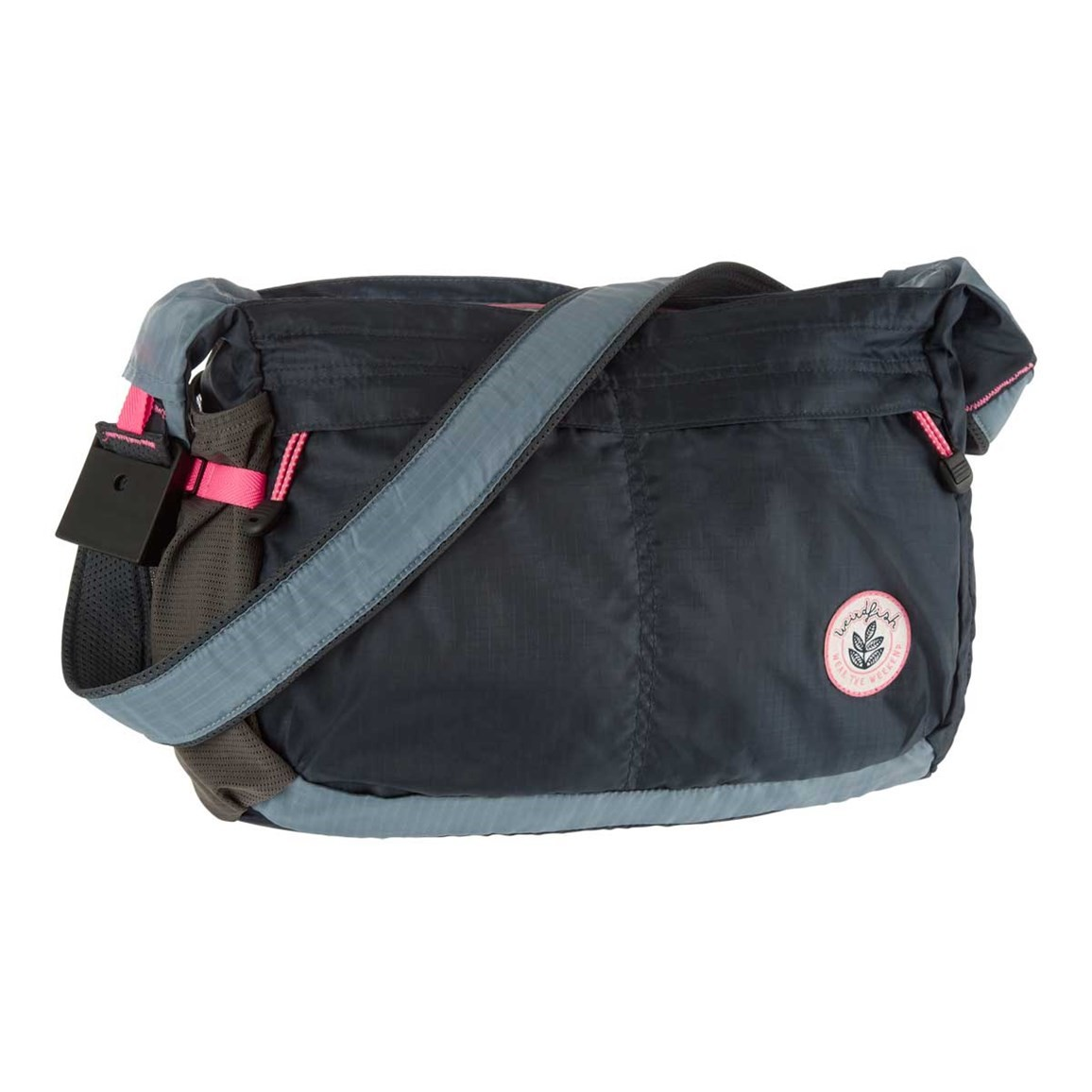 Weird Fish Chera Ripstop Packaway Courier Bag Navy