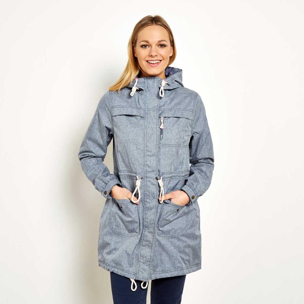 Waterproof Parka Jacket Navy