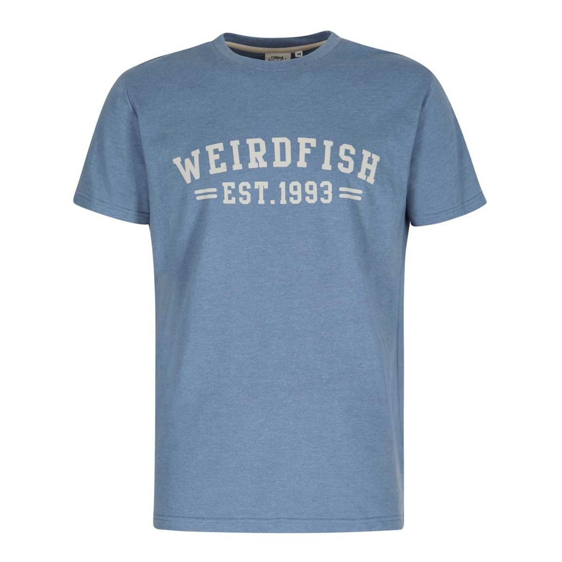 Weird Fish Bang Graphic Print T-Shirt Washed Blue Marl