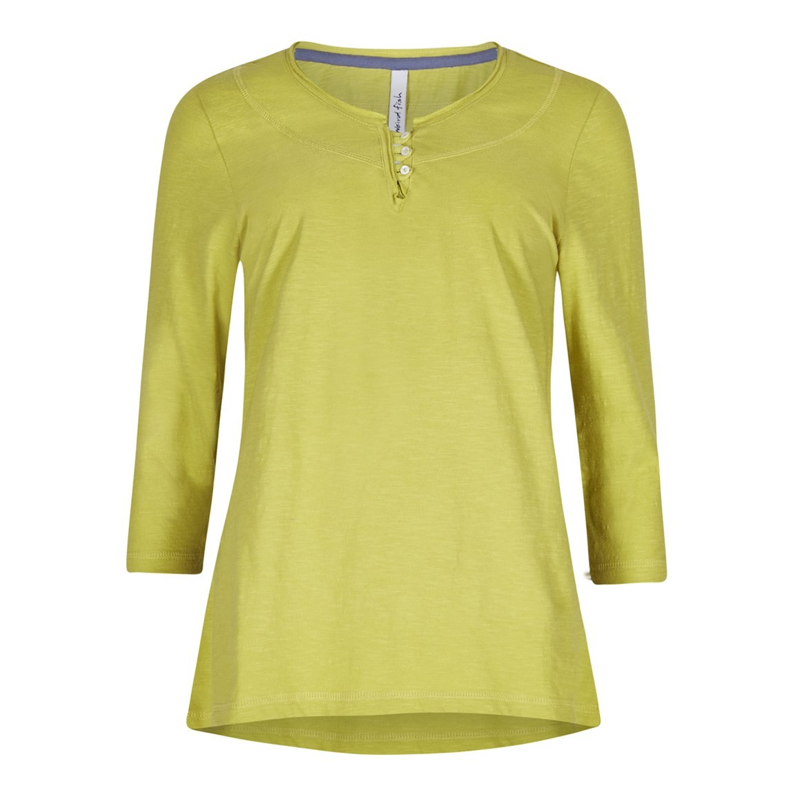 Weird Fish Petra 3/4 Sleeve T-Shirt Citronella