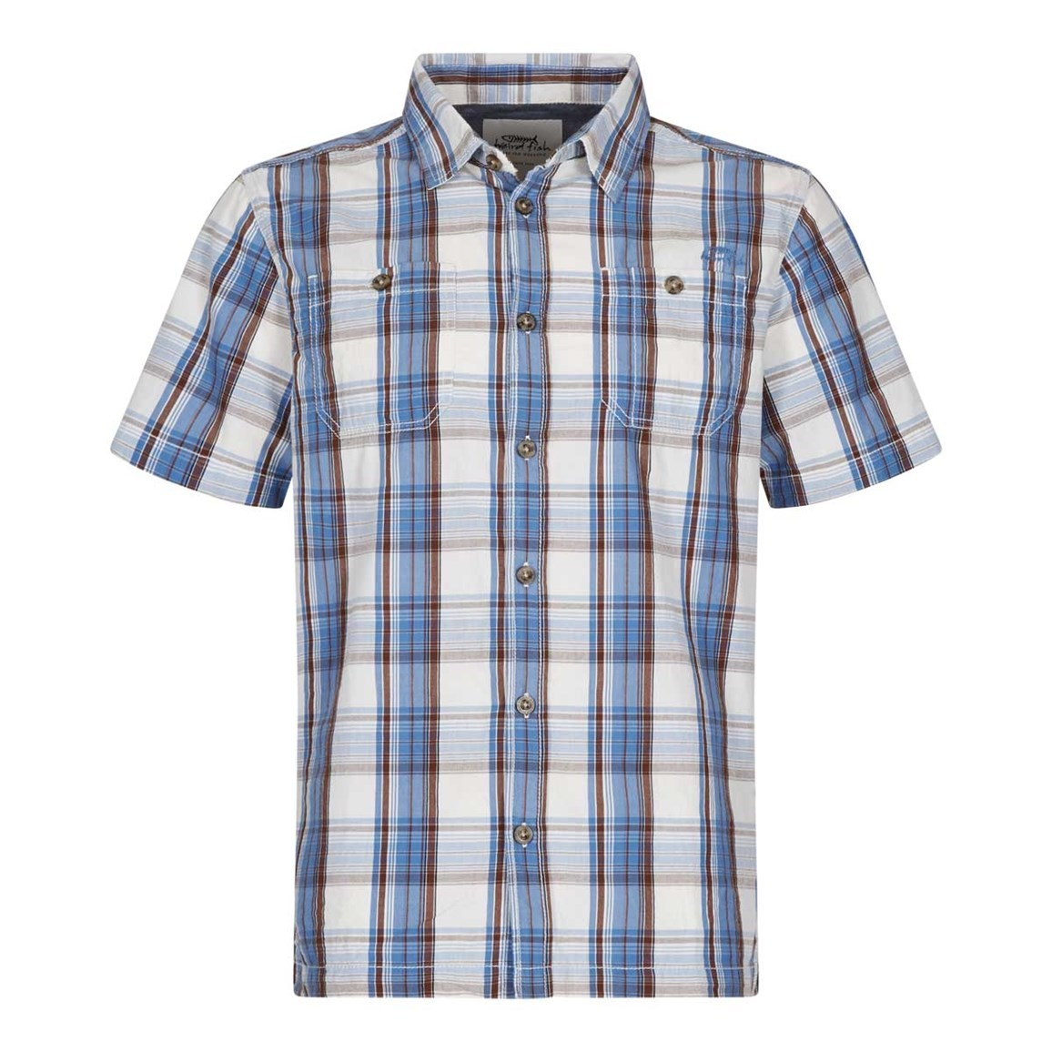 Weird Fish Farley Short Sleeve Check Shirt Cola