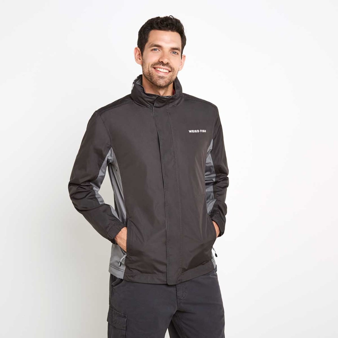 Weird Fish Fighter Waterproof Ripstop Jacket Washed Black
