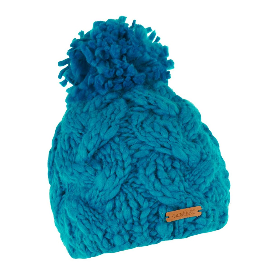 690fb9525f3 Weird Fish Aysha Cable Knit Bobble Hat Blue Jay