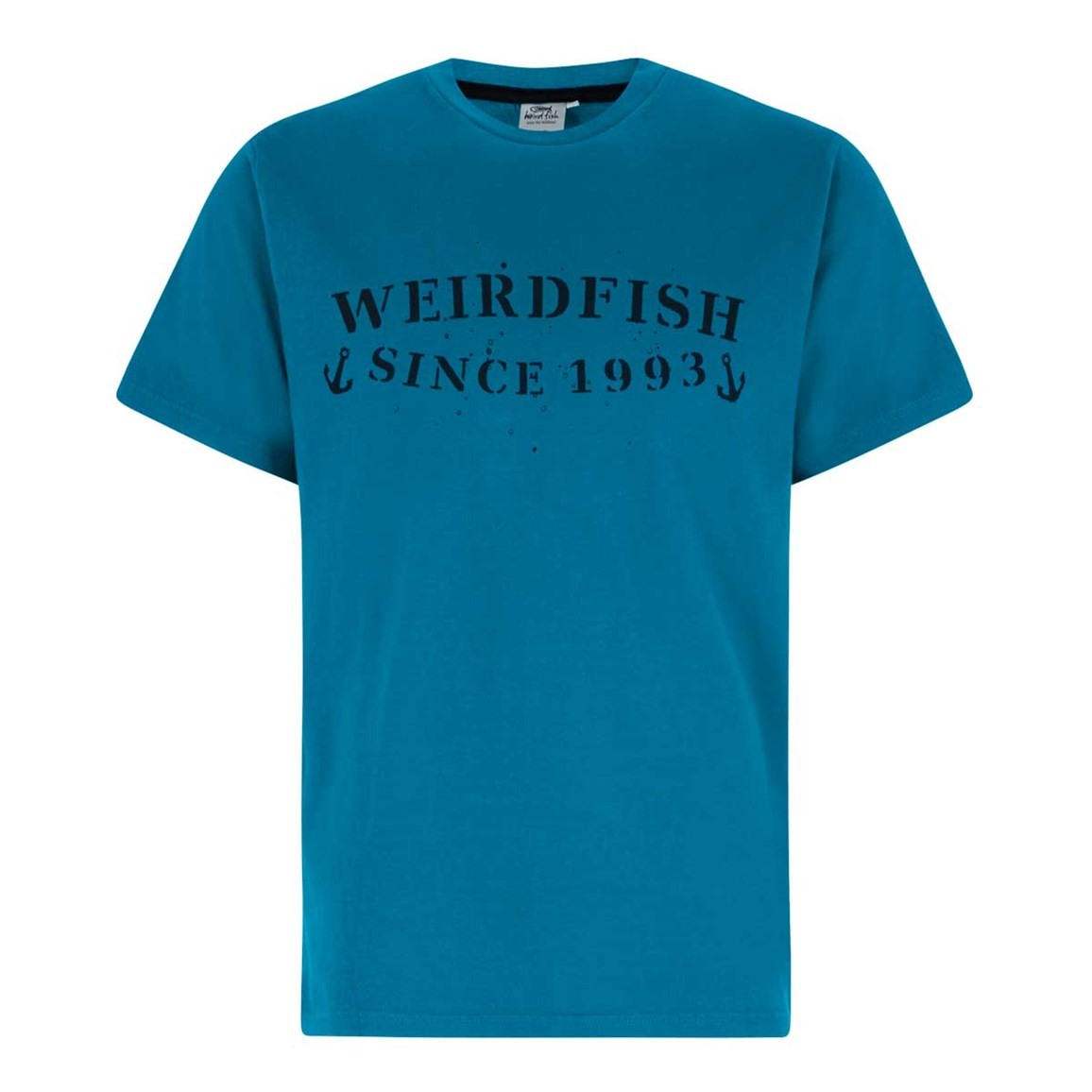 Weird Fish Anchor Graphic Print T-Shirt Blue Jay