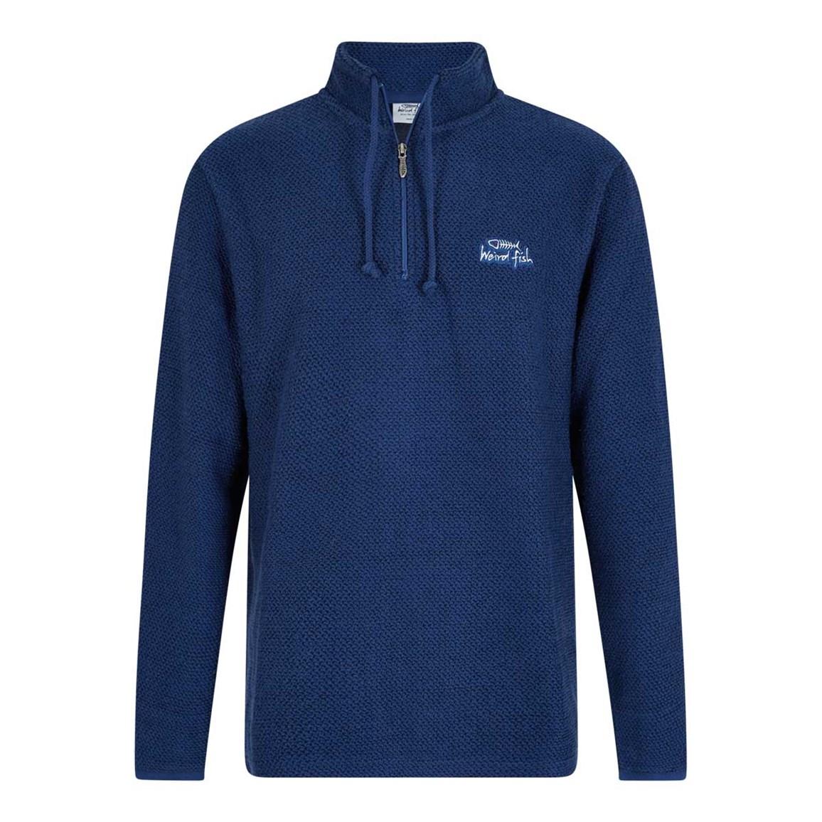 Cruiser 1/4 Zip Classic Macaroni Sweatshirt Ensign Blue