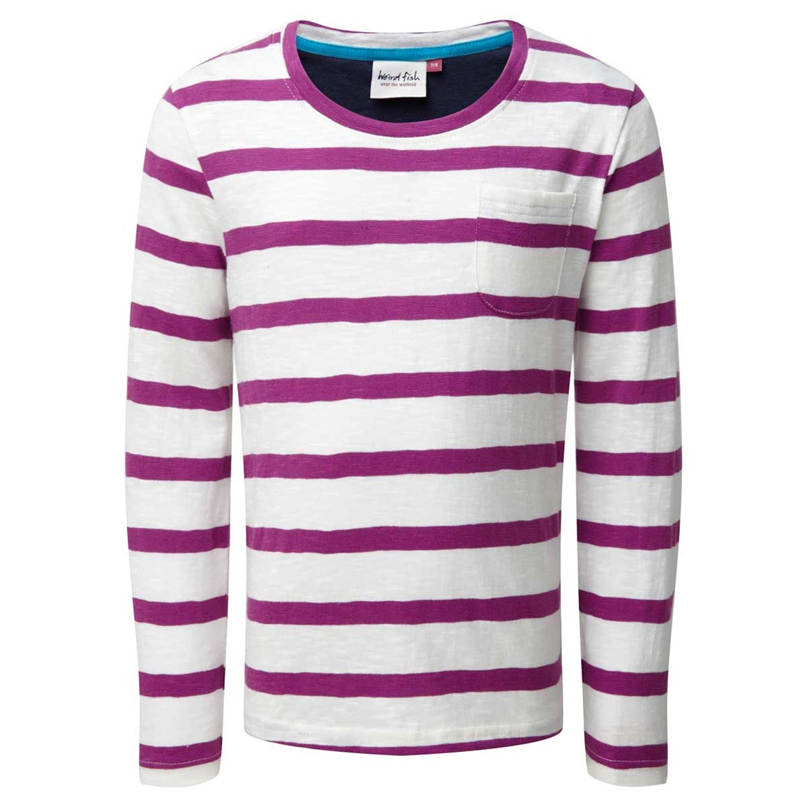 Weird Fish Evie Striped Jersey T-Shirt Sloeberry