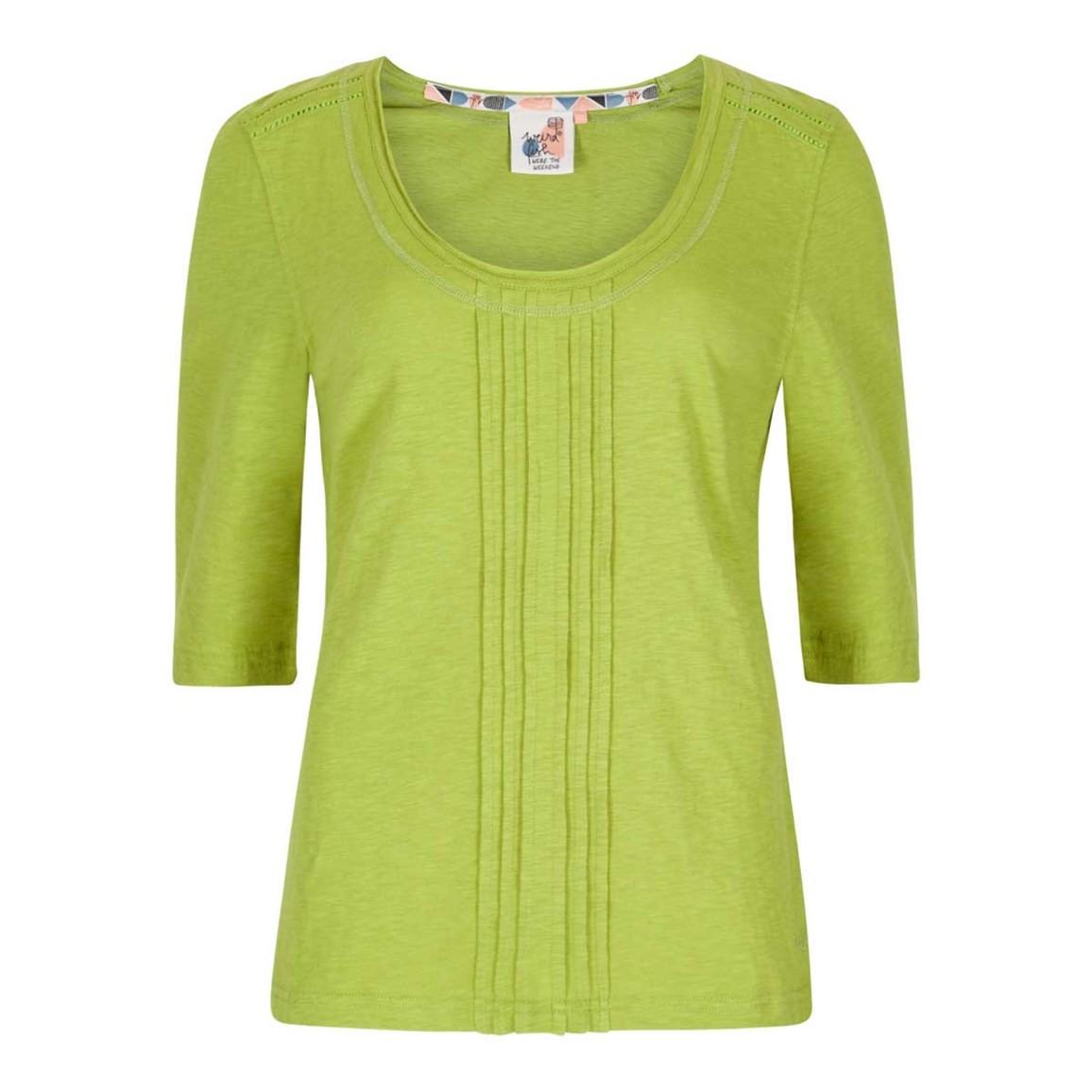 Weird Fish Santana Slub Jersey Outfitter T-Shirt Lime Size 10