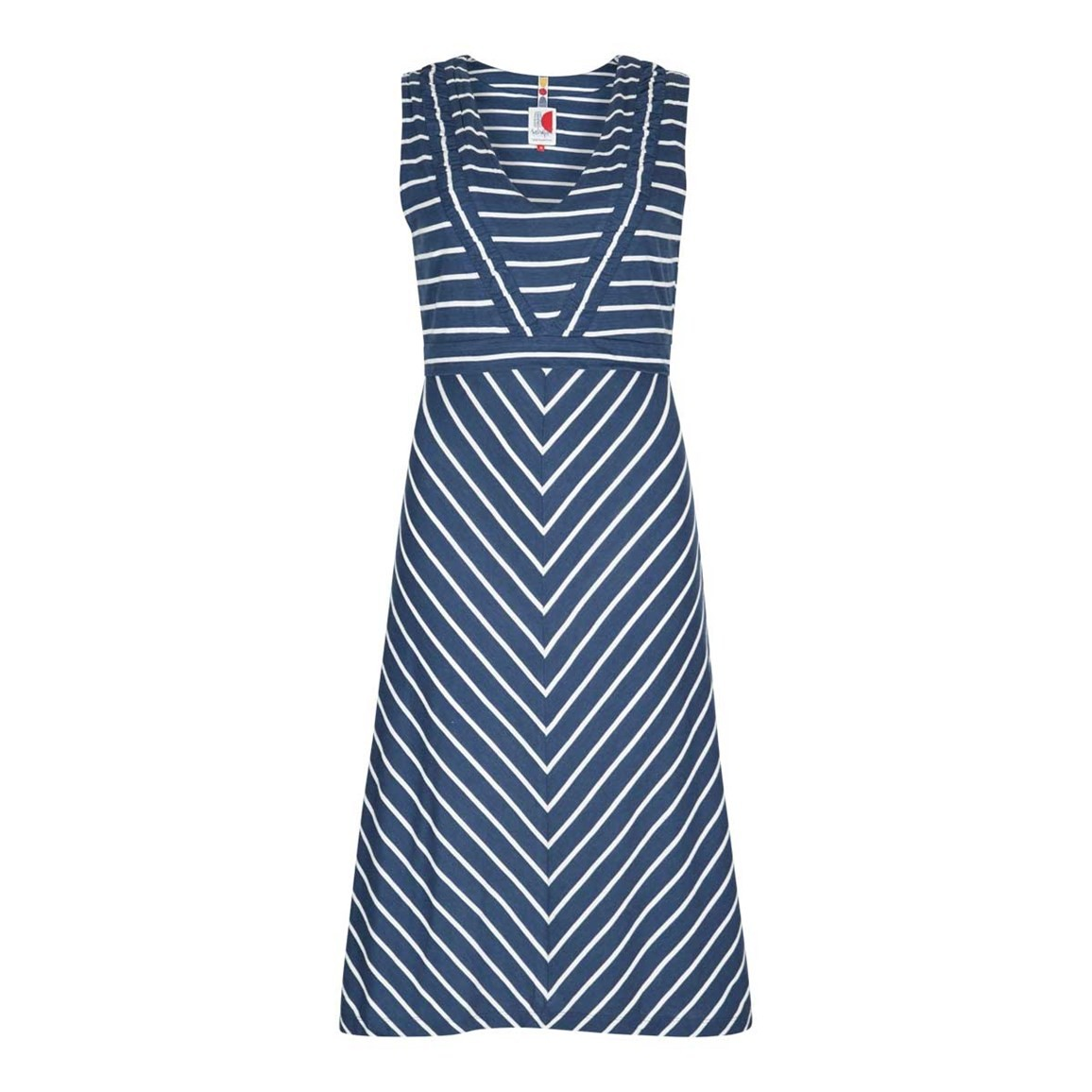 Weird Fish Pascale Lightweight Striped Dress Dark Denim