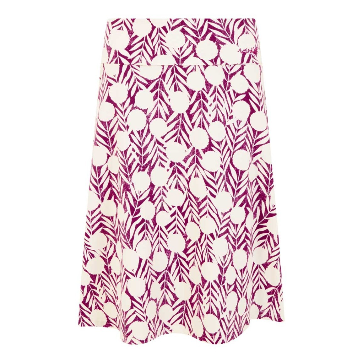 Weird Fish Malmo Printed Jersey Skirt Boysenberry
