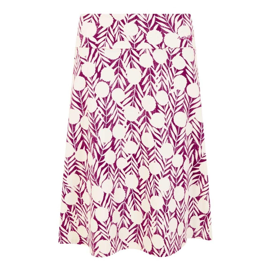 Weird Fish Malmo Printed Jersey Skirt Boysenberry Size 10