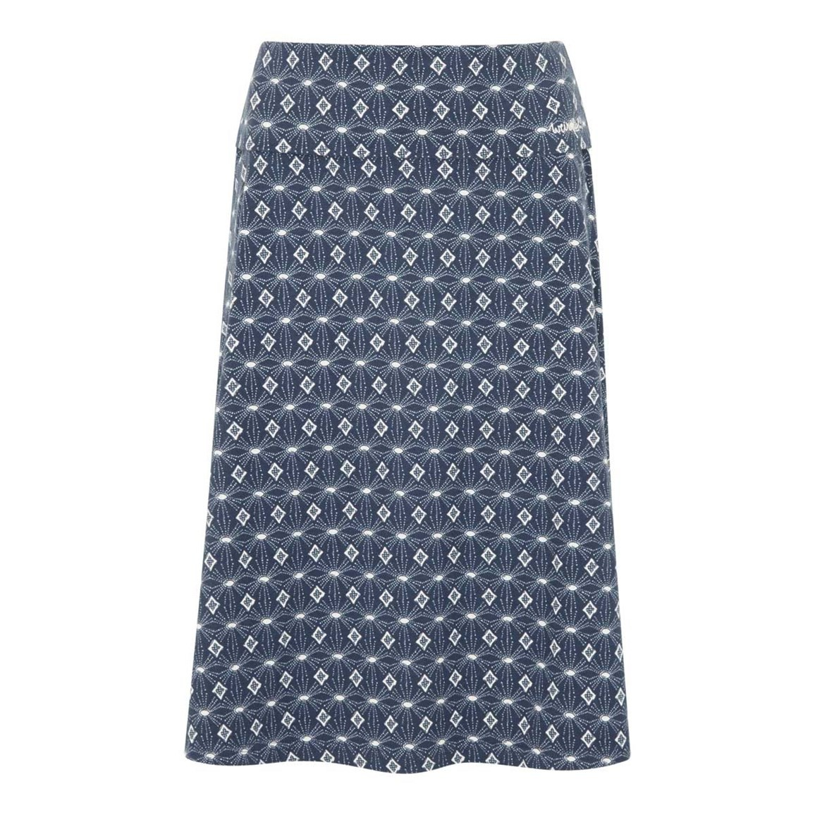 Weird Fish Malmo Printed Jersey Skirt Ink Size 10