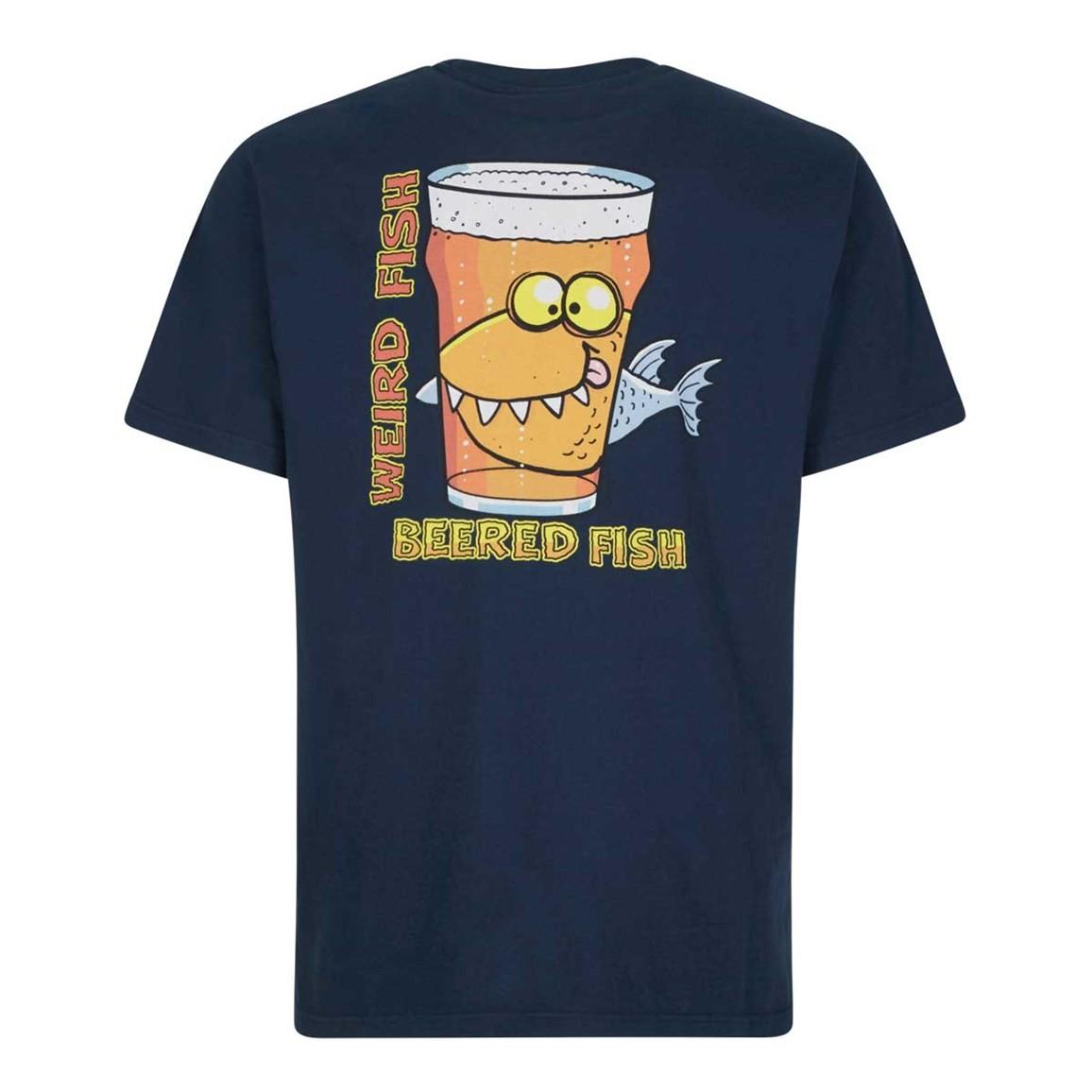 Weird Fish Beered Fish Artist T-Shirt Maritime Blue Size 2XL