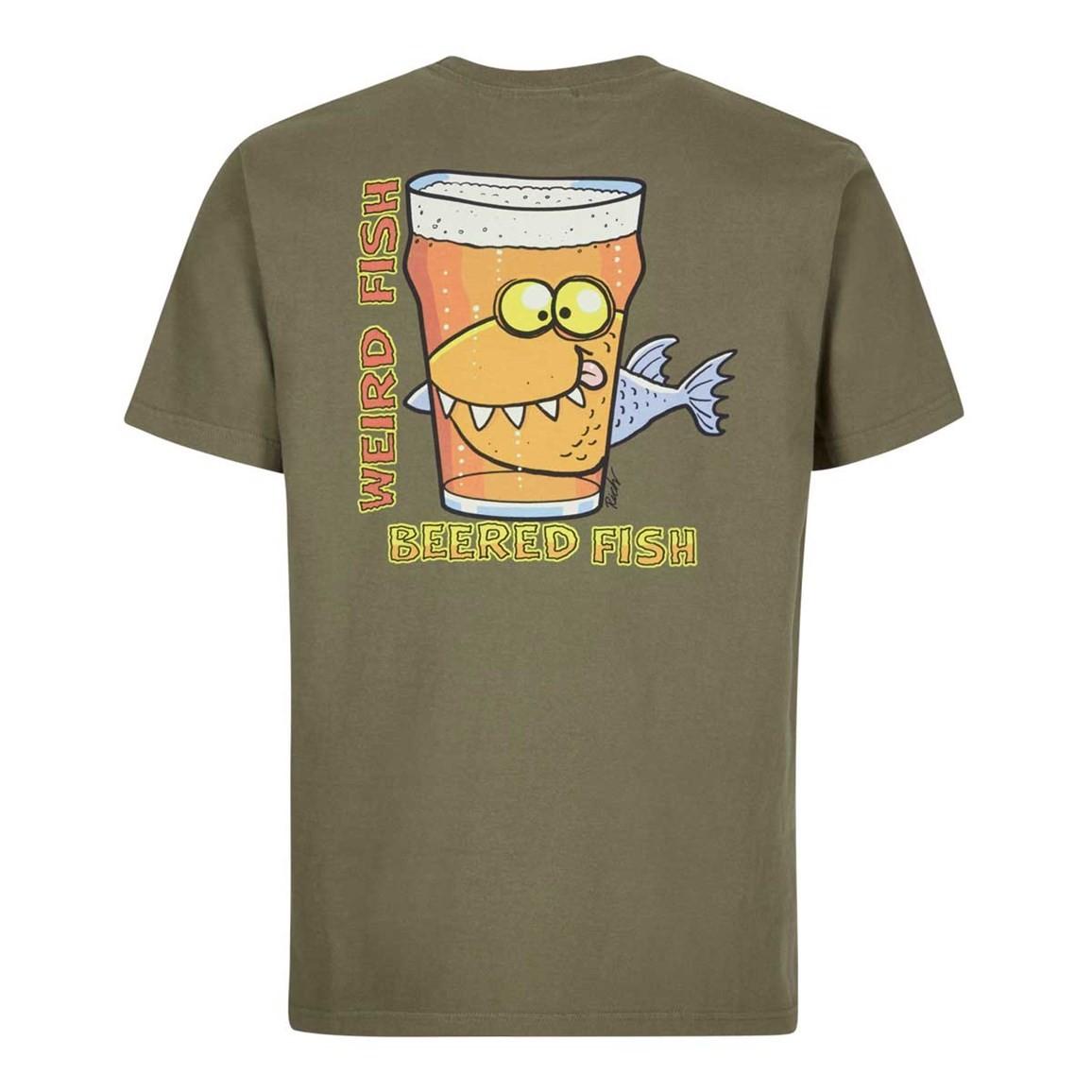 Weird Fish Beered Fish Artist T-Shirt Bark Size 2XL