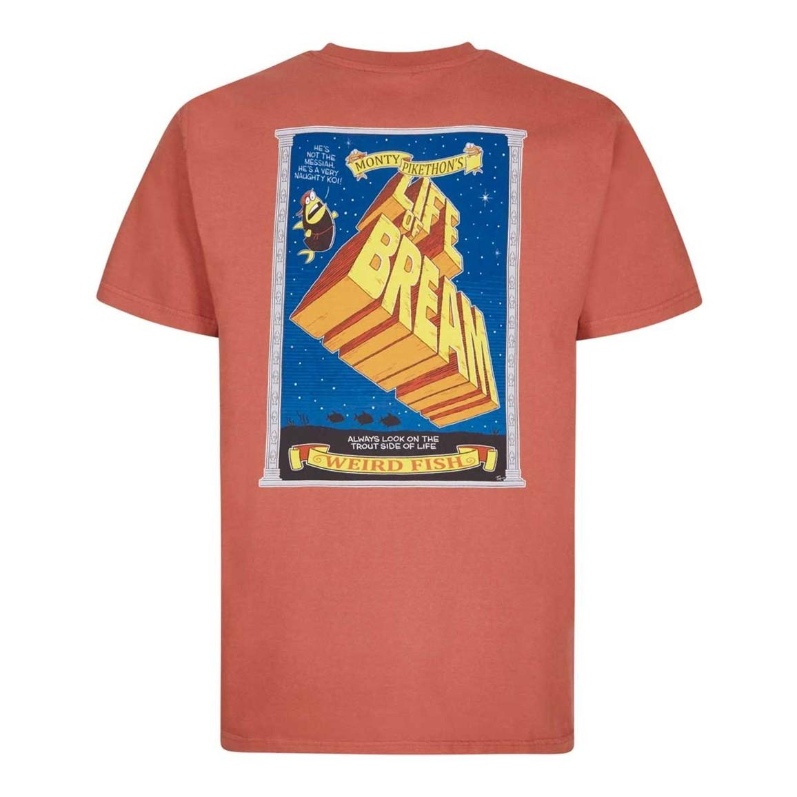 Weird Fish Life Of Bream Artist T-Shirt Brick Red Size 2XL