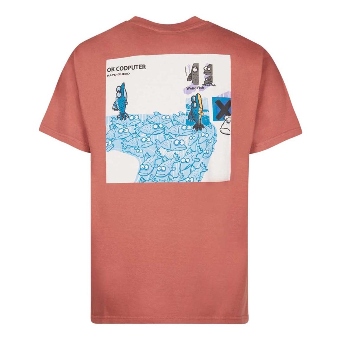 Weird Fish OK Codputer Artist T-Shirt Brick Red Size 2XL