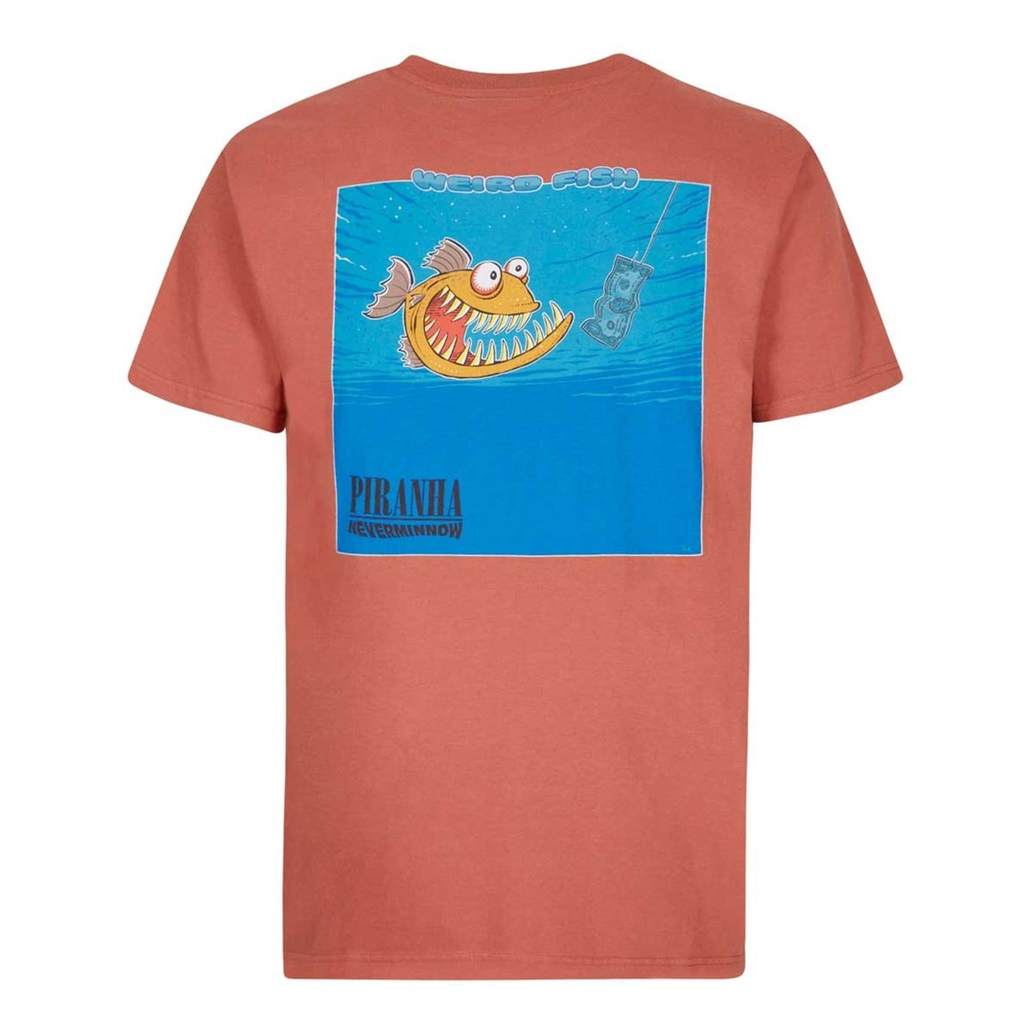 Weird Fish Piranha Artist T-Shirt Brick Red