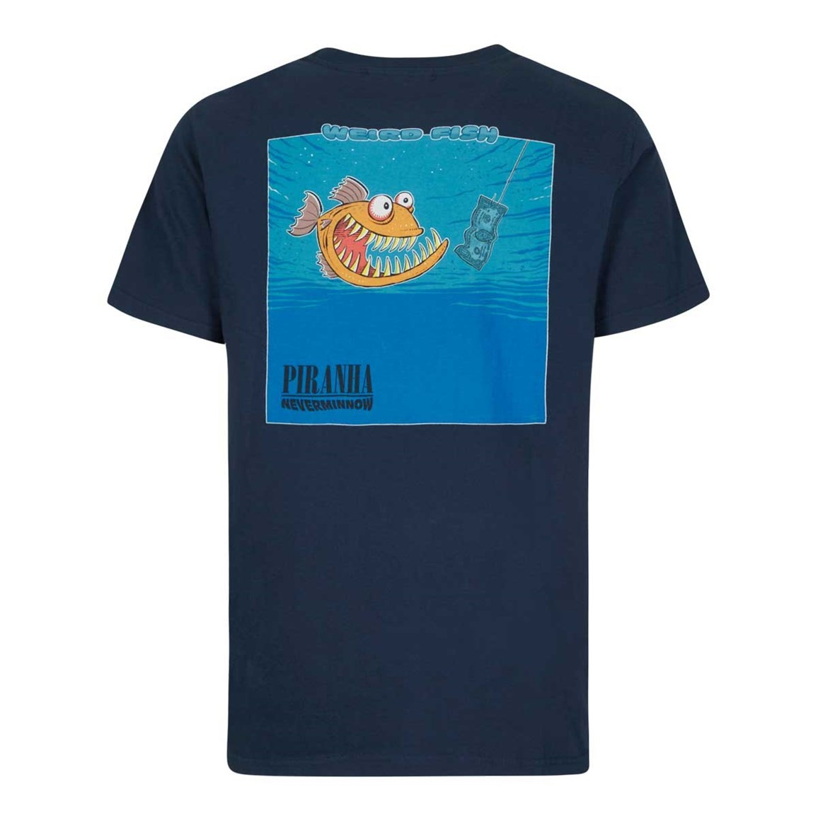 Weird Fish Piranha Artist T-Shirt Maritime Blue