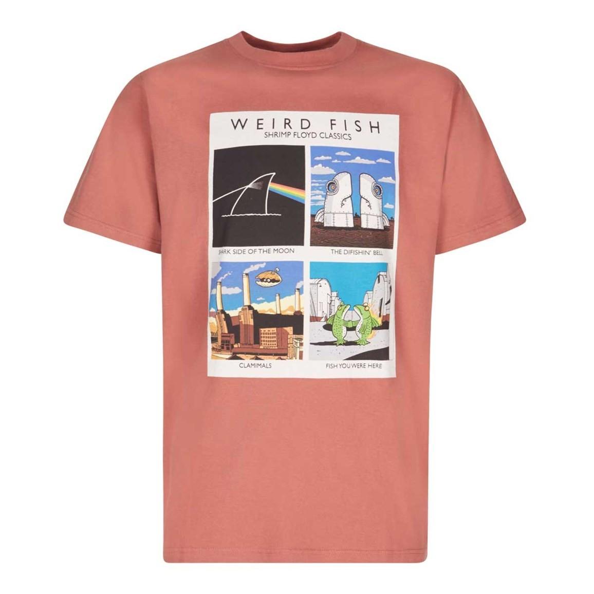 Weird Fish Shrimp Floyd Artist T-Shirt Brick Red Size 2XL