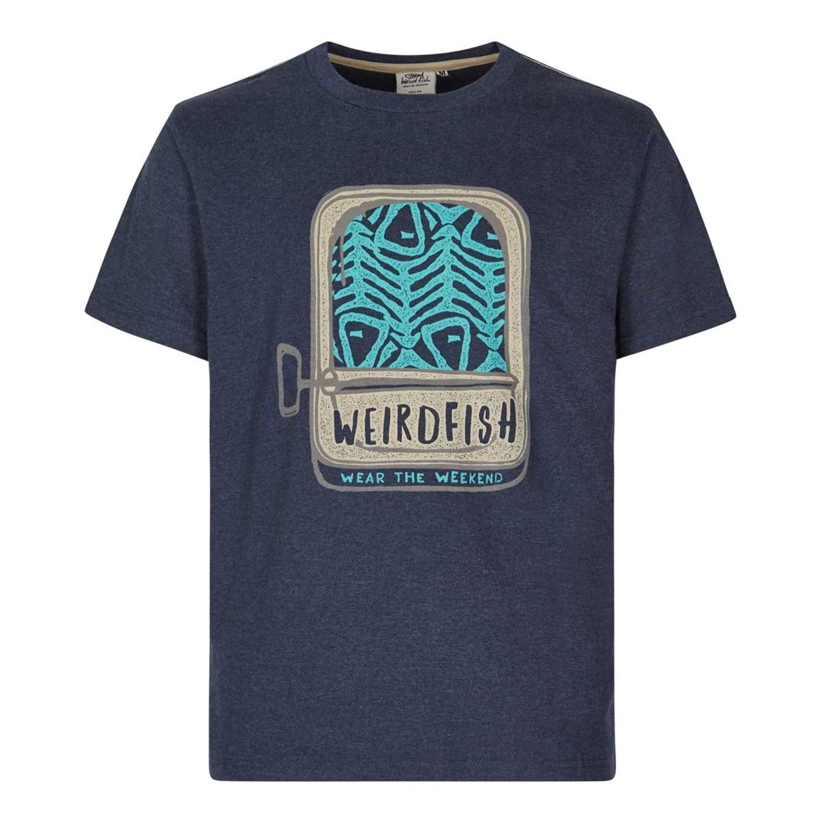 Weird Fish Sardines Graphic Print T-Shirt Maritime Blue Marl