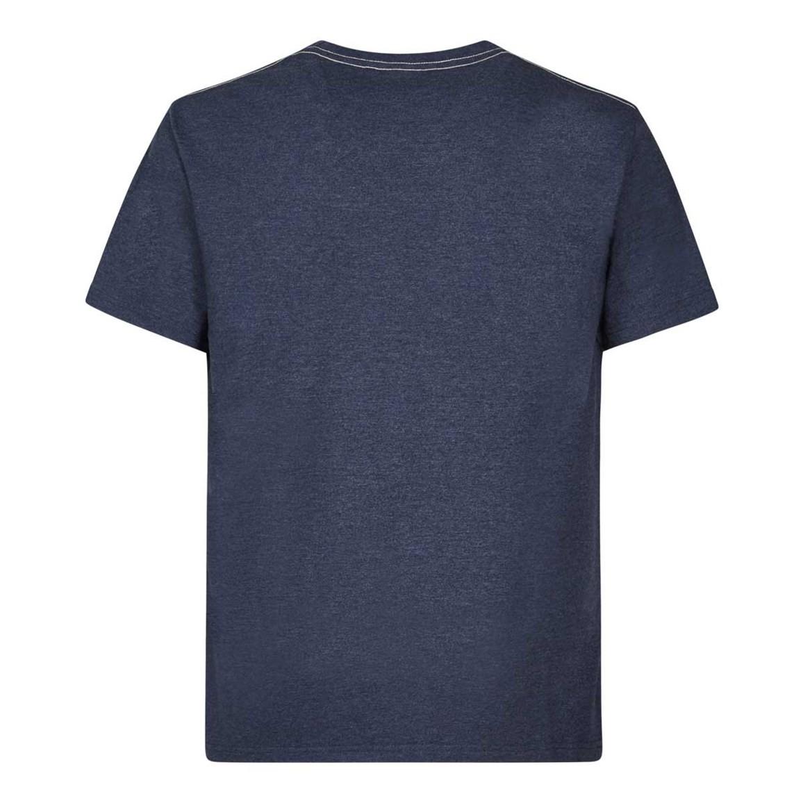 Sardines Graphic Print T Shirt Maritime Blue Marl