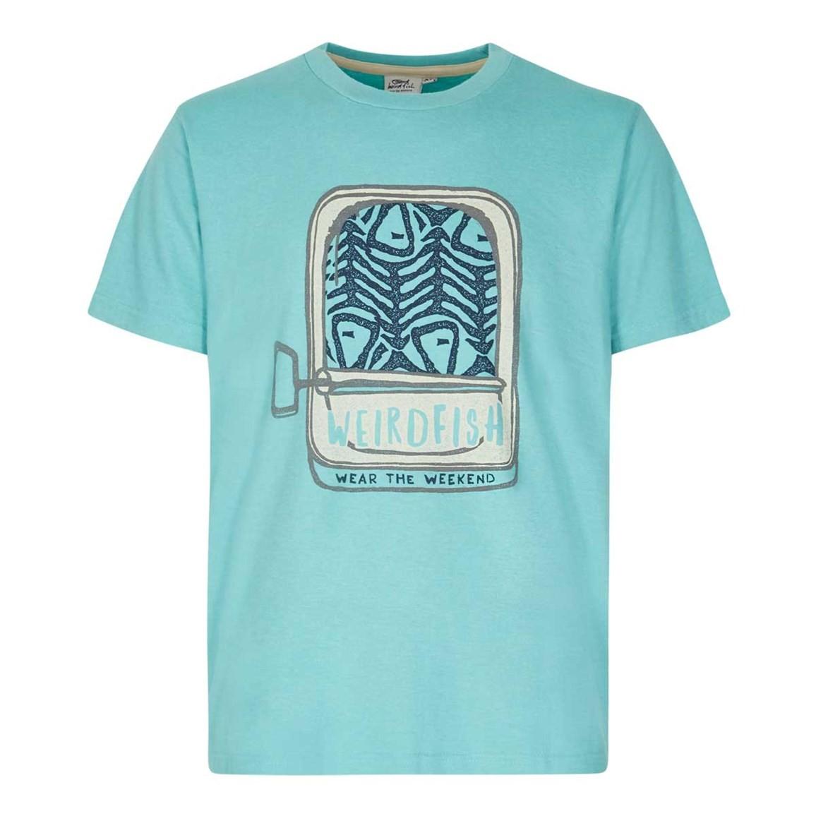 Weird Fish Sardines Graphic Print T-Shirt Menthol Marl