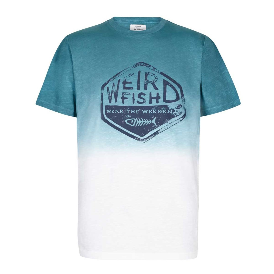 Weird Fish Onslow Graphic Print Dip Dyed T-Shirt Menthol