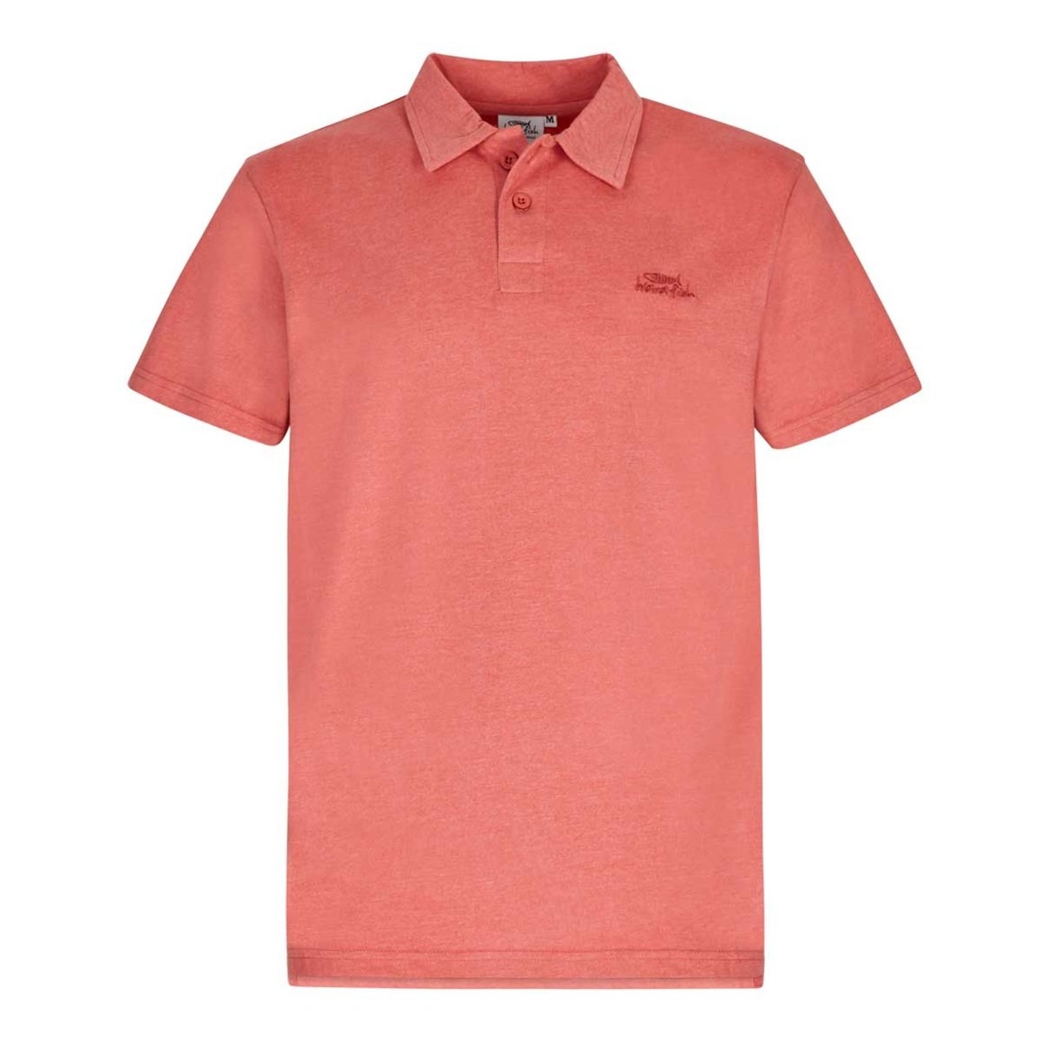 Weird Fish Andy Marled Jersey Polo Shirt Baked Apple Marl Size 2XL