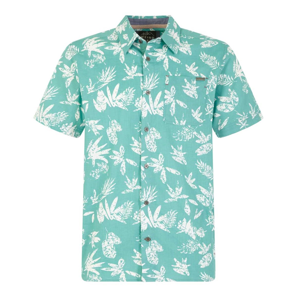 Weird Fish Mullins Hawaiian Short Sleeve Shirt Menthol