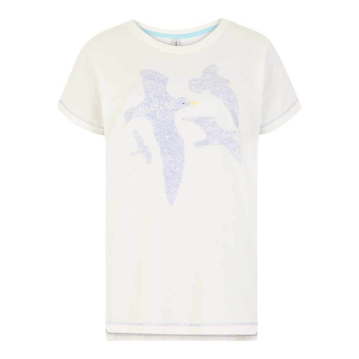 Weird Fish Seagull Graphic T-Shirt Light Cream