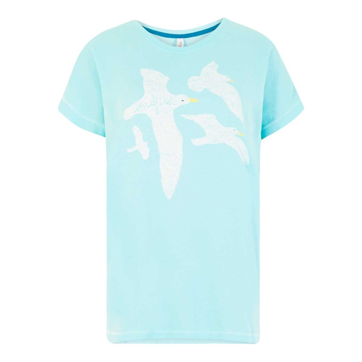Weird Fish Seagull Graphic T-Shirt Aqua Sky