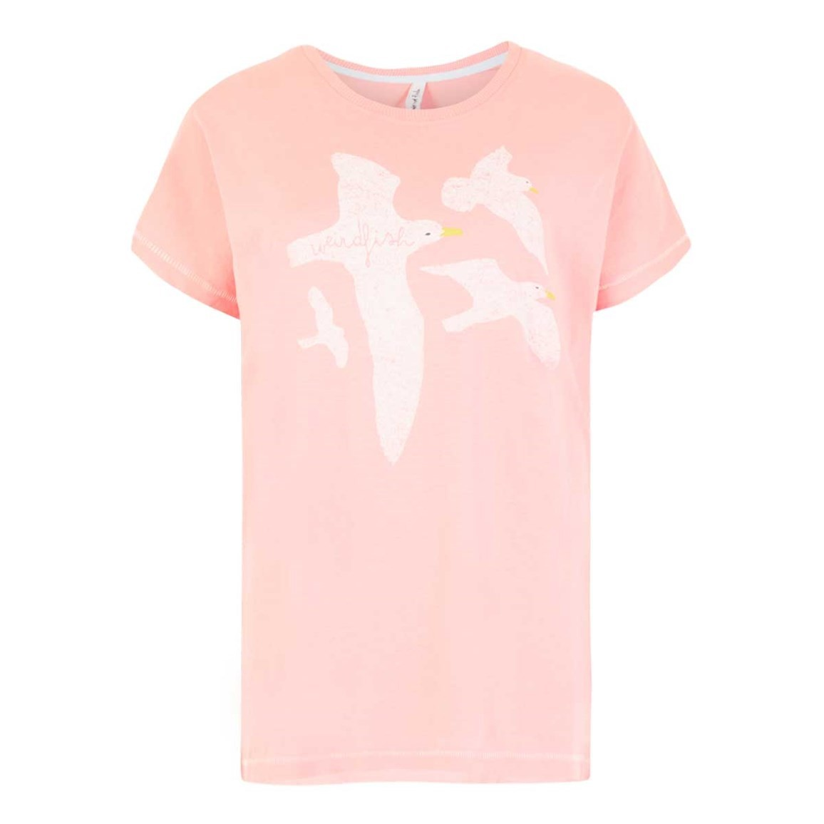 Weird Fish Seagull Graphic T-Shirt Coral Pink