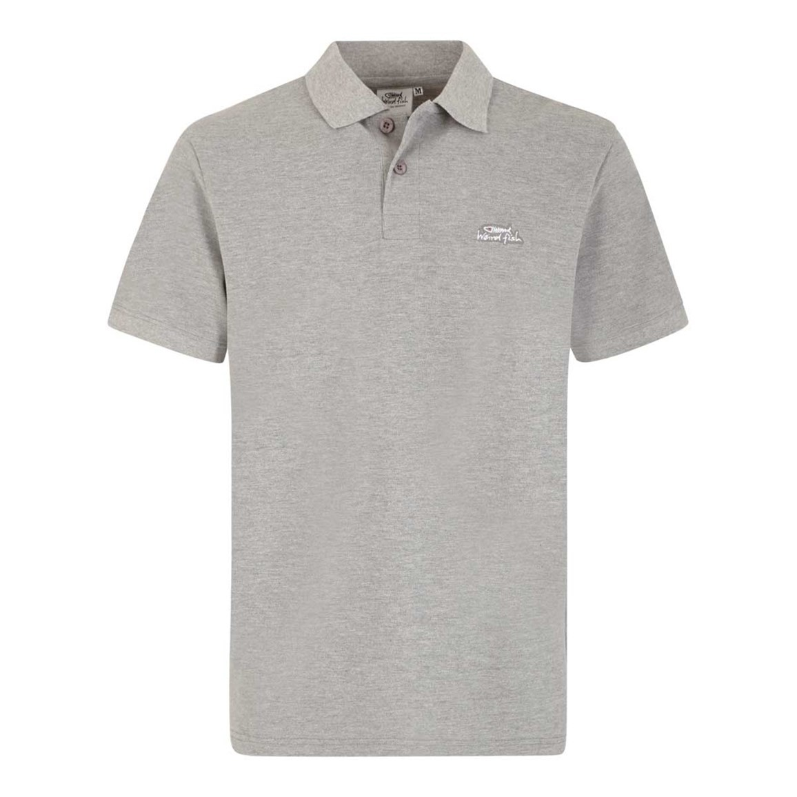 Saltash Rib Collar Pique Polo Shirt Grey