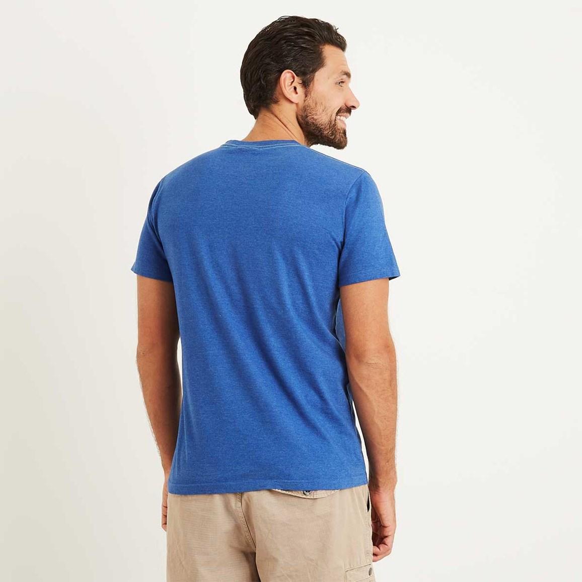 Gradient Bones Graphic Print T Shirt Deep Ocean Marl