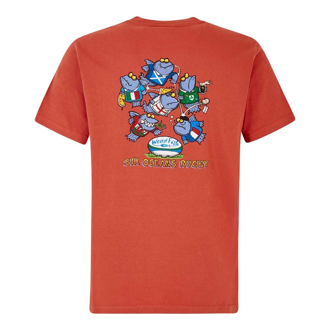 Weird Fish Six Oceans Artist T-Shirt Baked Apple